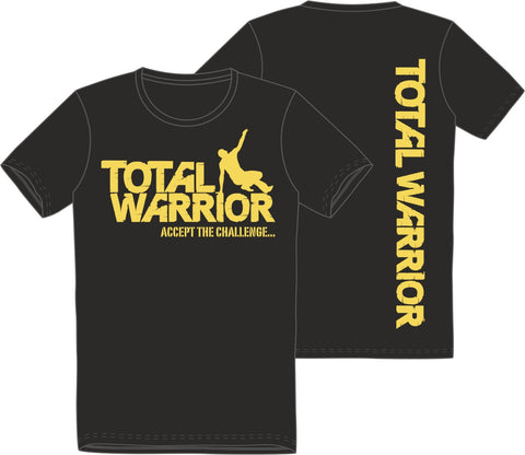 Total Warrior Logo Men's Short Sleeve Cotton T-Shirt