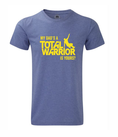 MY DADS A TOTAL WARRIOR 2019 KIDS HD TEE