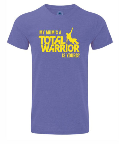 MY MUMS A TOTAL WARRIOR 2019 KIDS HD TEE
