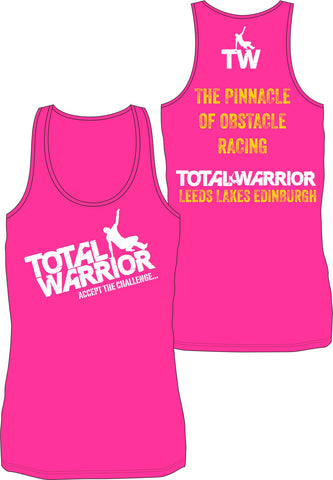 Total Warrior The Pinnacle of Obstacle Racing Ladies Technical Performance Vest Top