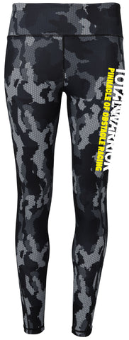 LADIES TOTAL WARRIOR PERFORMANCE CAMO CHARCOAL LEGGINGS