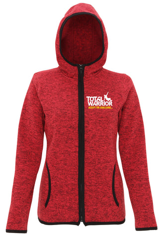 LADIES TOTAL WARRIOR KNIT FLEECE ZIP HOODIE