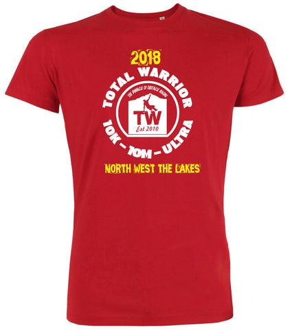 TOTAL WARRIOR 2018 NORTH WEST (SHAP - THE LAKES) 10K 10M ULTRA TEAM T-SHIRT