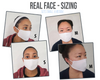 Face Mask Geometric Shape  Face Cover, USA Made Mouth Guard, Colorful Print Face Covering