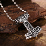 Norse Magick Mjolnir Pewter Hammer Necklace