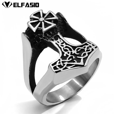 Viking Thor's Hammer of Thor Metal Zinc Alloy Ring