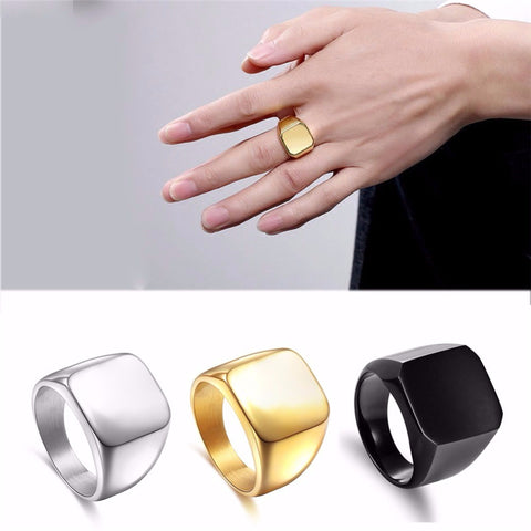 Black Silver Gold Fashion Ring