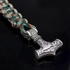 Norse Viking Thor Mjolnir Hammer  Vintage Green and White