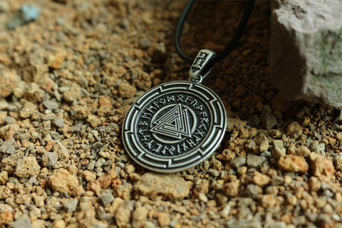 Norse Symbol Valknut Pendant Viking Necklace