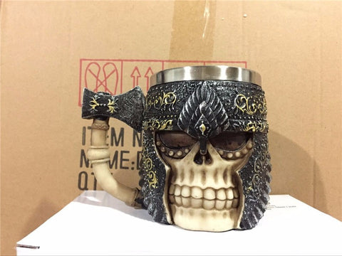 Shielded Axe Skull Mug