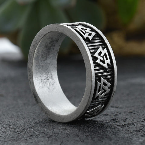 Vintage Wicca Pagan Valknut Scandinavian Close Triangle Norse Geometric Rings