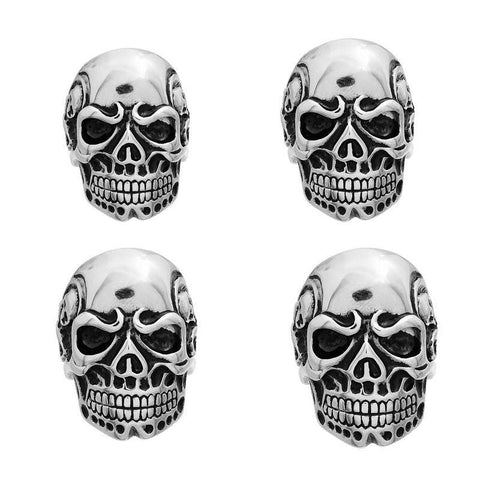 Viking Skeleton Skull Biker Ring