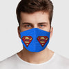 Face Mask Super Dad Face Cover, USA Made Mouth Guard, Colorful Print Face Covering