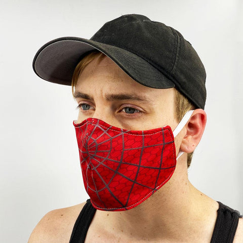 Spider Web Face Cover, USA Made Mouth Guard, Colorful Print Face Covering