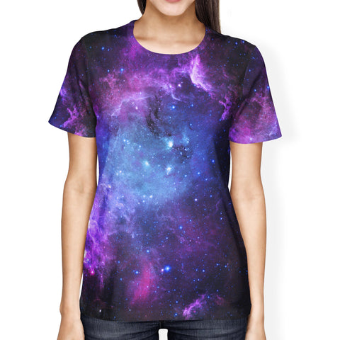 Blue Galaxy Ladie's T-shirt