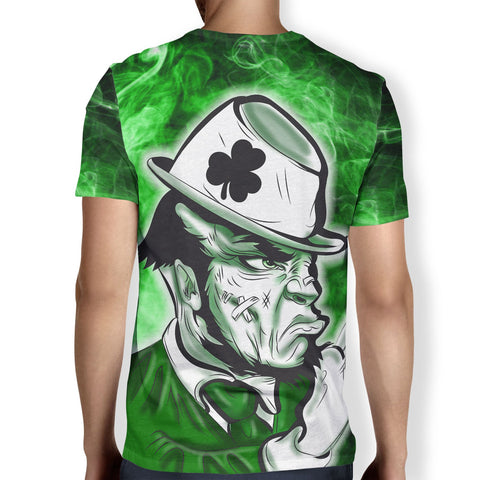 Fighting Leprechaun Men's T-Shirt