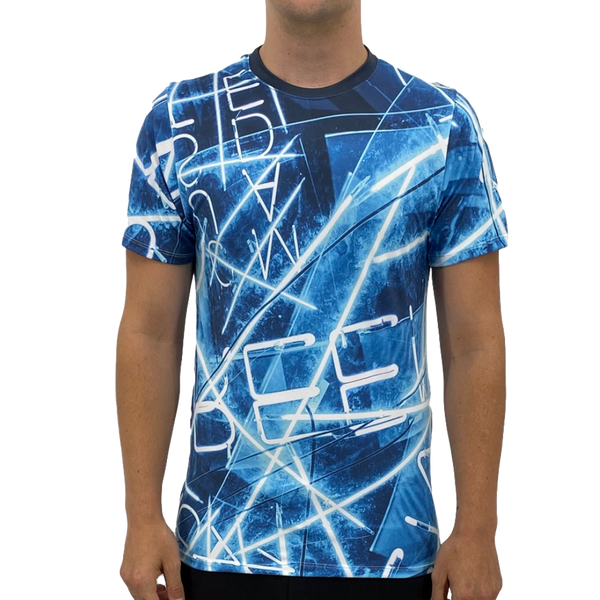 Electric Blue Lines Men's T-shirt