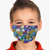 Youth Comic Wow Face Cover, USA Made Mouth Guard, Colorful Print Face Covering
