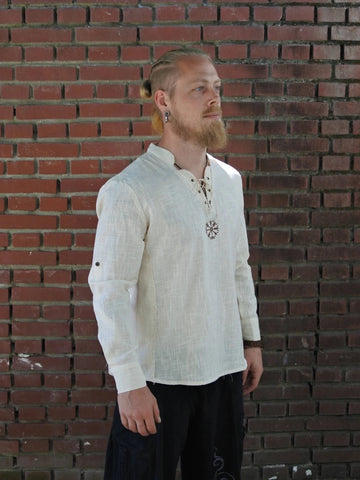 Medieval Viking Pirate Linen Top Shirt Costume
