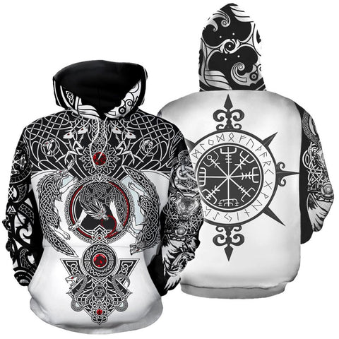VIKING TATTOO 3D ALL OVER PRINTED SHIRTS FOR MEN AND WOMEN