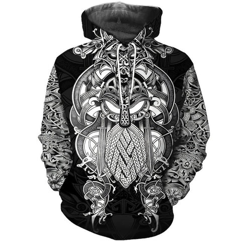 Odin Wolf Tattoo Fashion 3D T-Shirts & Hoodies