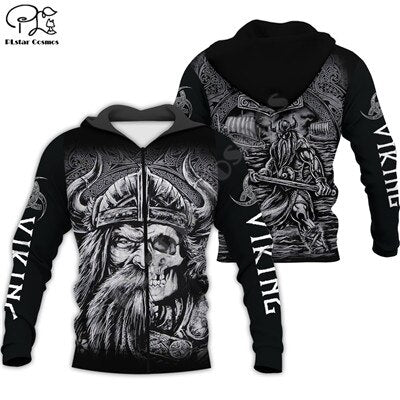 Viking Warrior Tattoo 3D full Print Hoodie