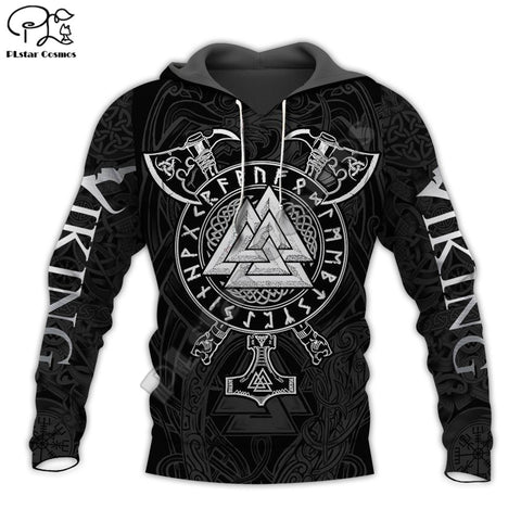 Viking Warrior Valknut Axe Tattoo 3D full Print Hoodie