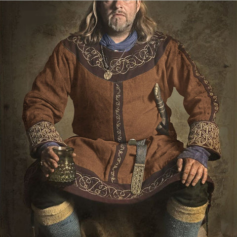 Medieval Larp Viking Costume Tunic Dress