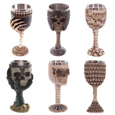 Skull Drinking Mug Personalized Dragon Bone Skull Goblet