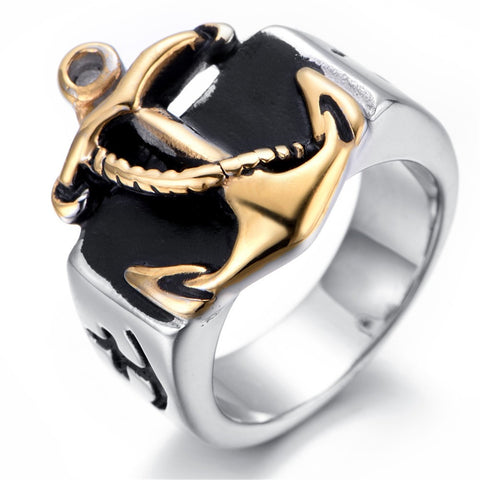 Anchor Navy Nautical Sailor Stainless Steel Ring