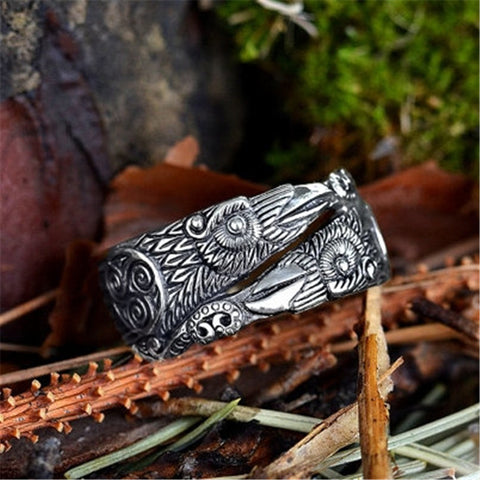 Viking Ravens Hugin Munin Rings