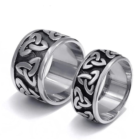 Black Celtic Knot Fashion Stainless Steel Ring