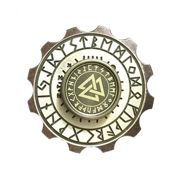 Metal Viking Pirate Compass and Hexagram Hand Spinner