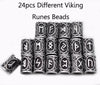 24pcs Original Viking Runes Charms Beads for Beard or Hair Vikings Rune Kits