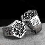 Mythology Viking Rune Antique Stainless Steel Rings