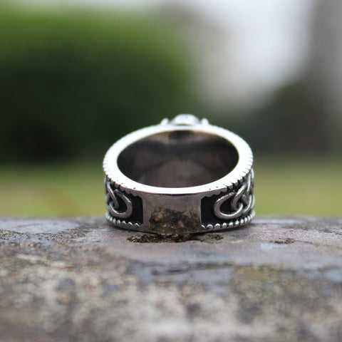 Viking Mjolnir Thor's Hammer Celtic Knot Ring