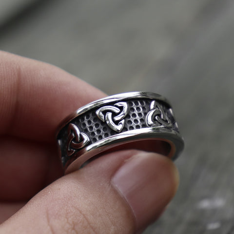 Viking Stainless Steel Celtics Knot Ring