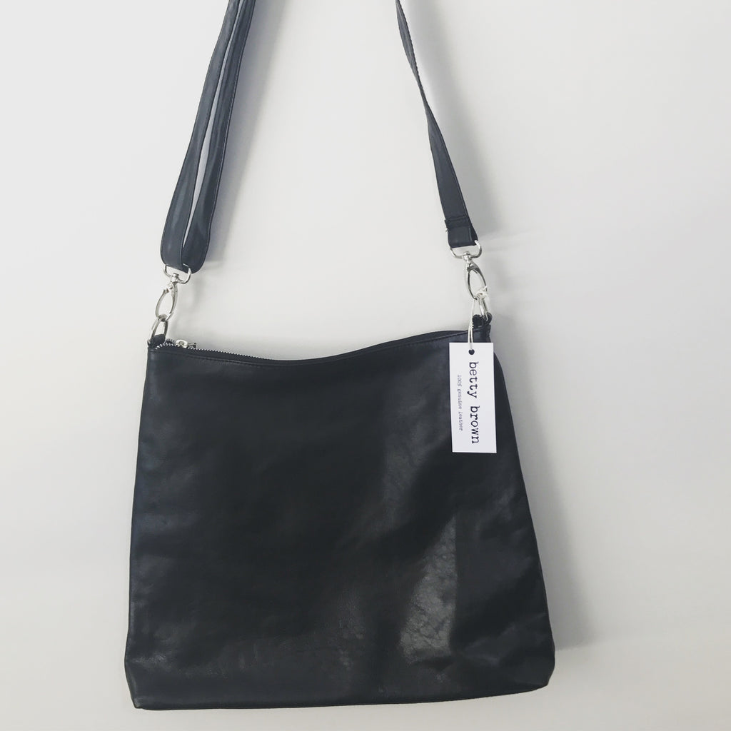 Diddy Day Bag Black Black leather
