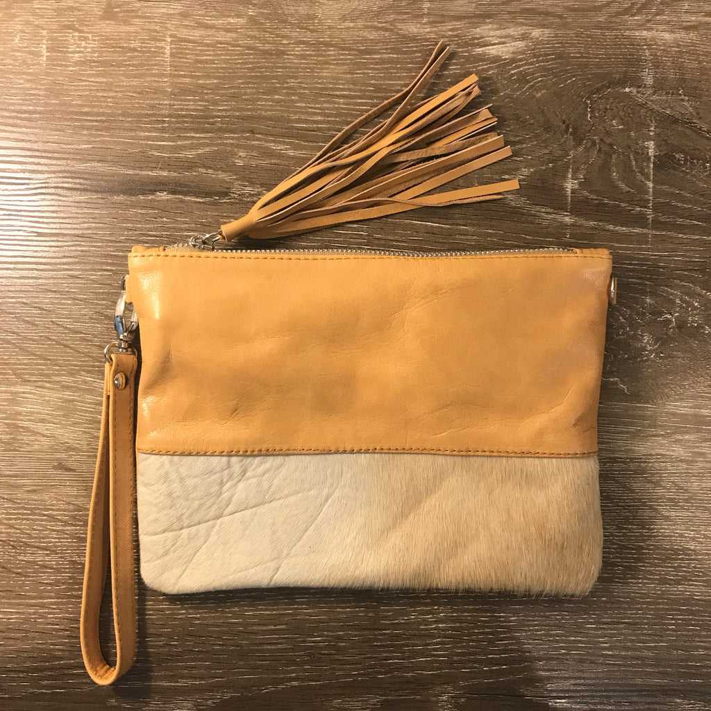Betty Brown Roxy Bag Beige leather, white hide