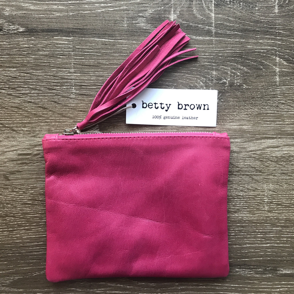 Betty Brown Marnie Clutch Hot Pink
