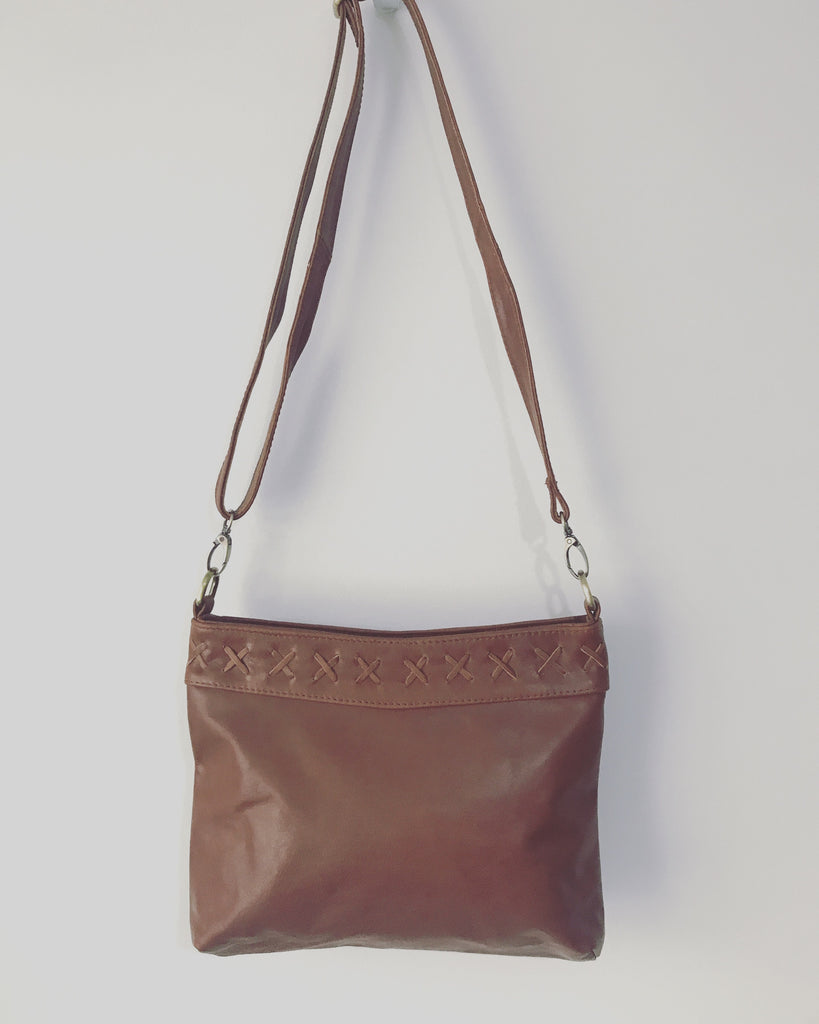 Betty Brown Tash Plain Bag Camel