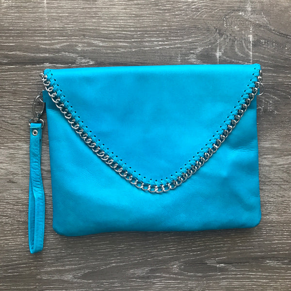 Charmaine Chain Bag - Aqua