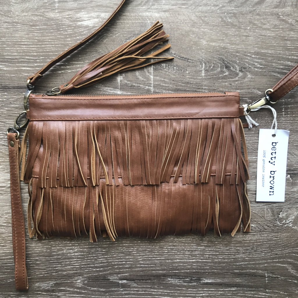 Betty Brown Mel Tassel Bag Camel