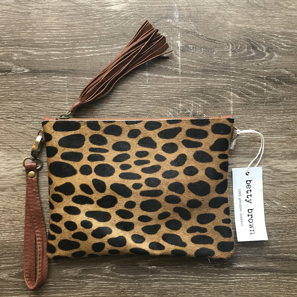 Daly Bag Brown cheetah print, black leather