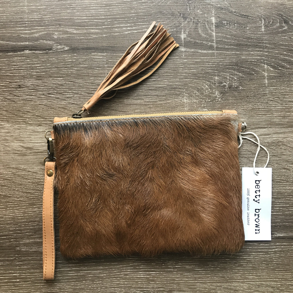 Daly Bag Tan goat hide, light tan leather
