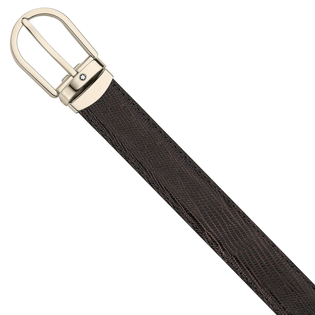 Montblanc 112925 Belt with Horseshoe Pin Buckle