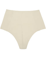 High waisted bikini bottoms in ivory white cream by Caroline af Rosenborg