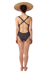 SWIMSUIT - The Cross Back - Charcoal
