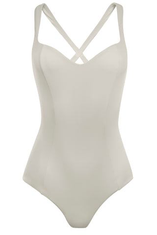 SWIMSUIT - The Cross Back - Ivory