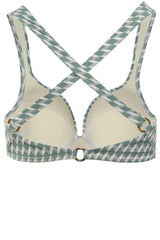 TOP - The Supportive Cross Back - Sage Signature Print